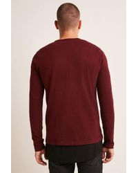 Forever 21 Red Marled Sweater Knit Top for men