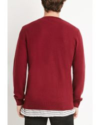 Forever 21 - Purple Thermal Knit Sweater for Men - Lyst