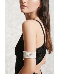 Forever 21 - Multicolor Faux Pearl Arm Band - Lyst