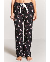 Forever 21 | Black Polar Bear Graphic Pj Pants | Lyst