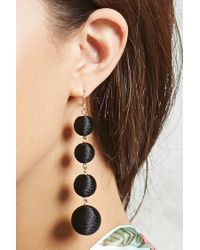 Forever 21 - Black Bauble Fabric Drop Earrings - Lyst