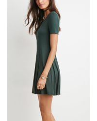Forever 21 - Green Classic Fit & Flare Dress - Lyst