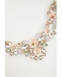 Forever 21 - Metallic Cluster Statement Necklace - Lyst