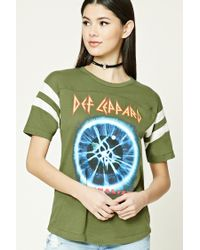 Forever 21 - Green Def Leppard Graphic Tee - Lyst