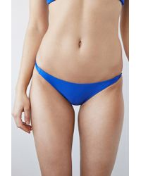 Forever 21 - Blue Knotted Side Cheeky Bottoms - Lyst