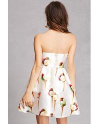 Forever 21 | White Ice Cream Fit & Flare Dress | Lyst