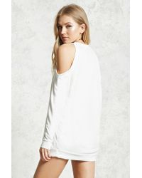 Forever 21 - White Open-shoulder Top - Lyst