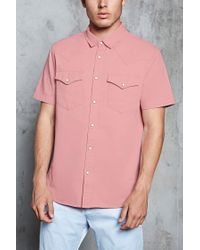 Forever 21 | Pink Slim-fit Cotton Shirt for Men | Lyst