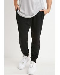 Forever 21 - Black Paneled Drawstring Sweatpants for Men - Lyst