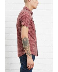 Forever 21 - Red Abstract Print Slim Fit Shirt for Men - Lyst