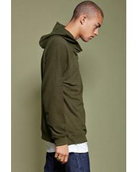 Forever 21 Green 's French Terry Knit Hoodie for men