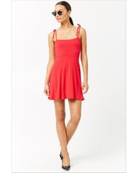 da48bf9f148 Forever 21 Women s Ribbed Knit A-line Dress in Red - Lyst