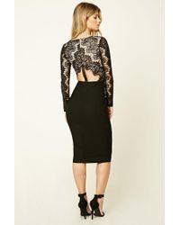 Forever 21 - Black Rare London Knee-length Dress - Lyst