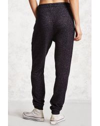 Forever 21 - Black French Terry Joggers - Lyst