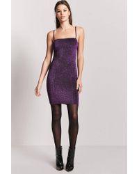 Forever 21 - Purple Metallic Stretch Knit Dress - Lyst