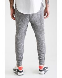 Forever 21 - Gray Marled Knit Zippered Joggers - Lyst