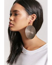 Forever 21 - Metallic Disc Drop Earrings - Lyst