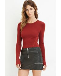 Forever 21   Red Ribbed Crop Top   Lyst