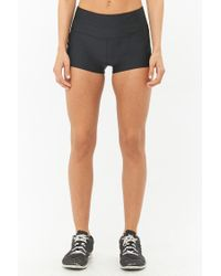 Forever 21 - Black Active Stretch-knit Bike Shorts - Lyst