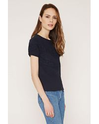 Forever 21 - Blue Lace-paneled Top - Lyst