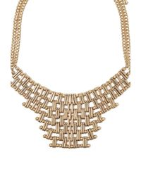 Forever 21 - Metallic Chain Link Statement Necklace - Lyst