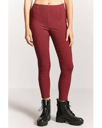 Forever 21 - Red Gingham Ankle Pants - Lyst