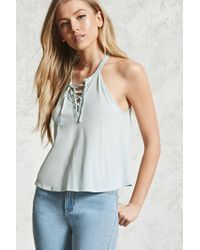 Forever 21 - Multicolor Lace-up Cami - Lyst