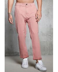 Forever 21 - Purple 's Twill Woven Joggers for Men - Lyst
