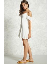 Forever 21 - White Ruffle Cami Shift Dress - Lyst