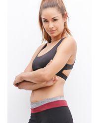 Forever 21 - Red Medium Impact - Crisscross-back Sports Bra - Lyst