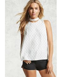 Forever 21 - Multicolor Arrow Print Choker Top - Lyst