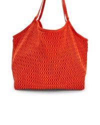 Forever 21 - Orange Crochet Netted Tote - Lyst