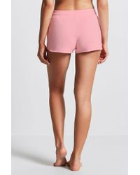 Forever 21 - Pink Fleece Knit Pj Shorts - Lyst