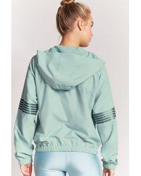 Forever 21 Blue Active Metallic Stripe Jacket