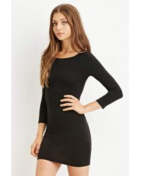 Forever 21 | Black Bodycon Mini Dress | Lyst