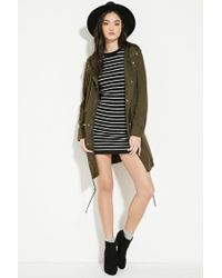 Forever 21 - Black Striped Jumper Dress - Lyst