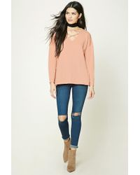 Forever 21 - Multicolor Strappy Cutout Sweater - Lyst