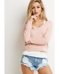 Forever 21 - Orange Hooded Terry Knit Pullover You've Been Added To The Waitlist - Lyst