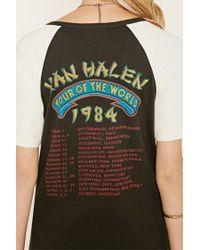 Forever 21 - Black Van Halen Graphic Raglan Tee - Lyst