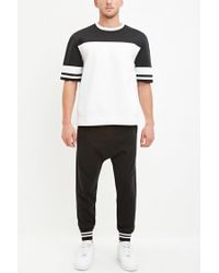 Forever 21 - Black Stripe-trimmed Joggers for Men - Lyst