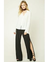 Forever 21 - White Contemporary Trumpet Sleeve Top - Lyst