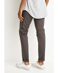 Forever 21 - Gray Classic Twill Pants - Lyst