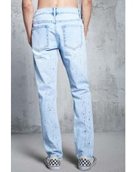 Forever 21 - Blue Paint Splatter Jeans for Men - Lyst