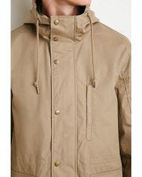 Forever 21 - Natural Hooded Utility Jacket for Men - Lyst