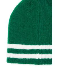 Forever 21 - Green Striped Ribbed Knit Beanie - Lyst