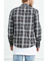 Forever 21 - Black Tartan Check Shirt for Men - Lyst