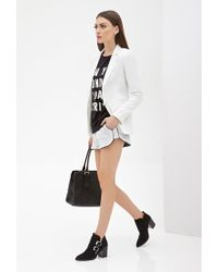 Forever 21 - White Classic Notched Collar Blazer - Lyst
