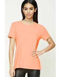 Forever 21 - Orange Acid Wash Tee - Lyst