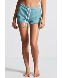 Forever 21 - Blue Fleece Knit Pj Shorts - Lyst