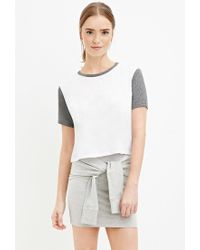 Forever 21 | Gray Heathered Tie-front Skirt | Lyst